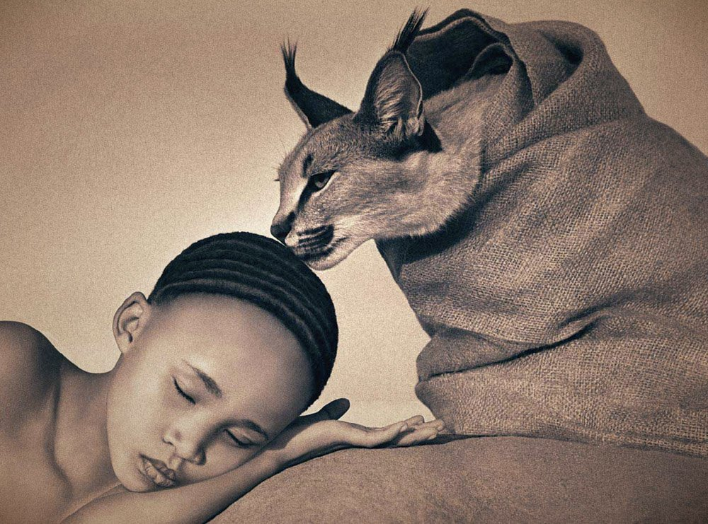 Girl Gone Authentic - Ashes and Snow - Gregory Colbert - Girl and lynx