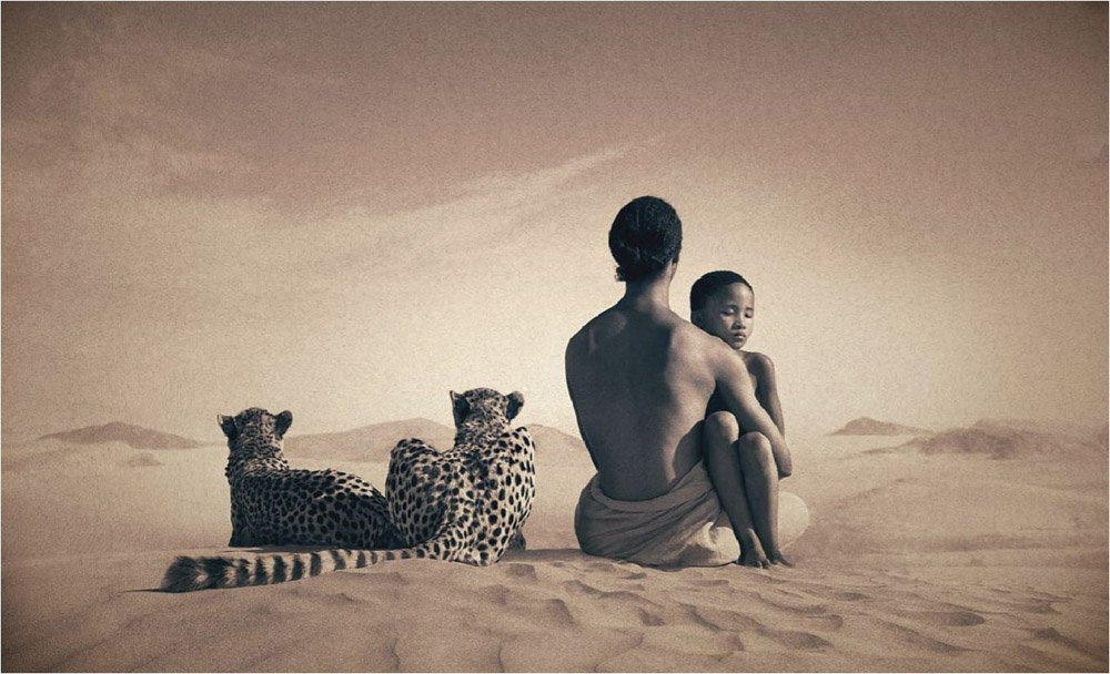 Girl Gone Authentic - Ashes and Snow - Gregory Colbert - mother and leopards