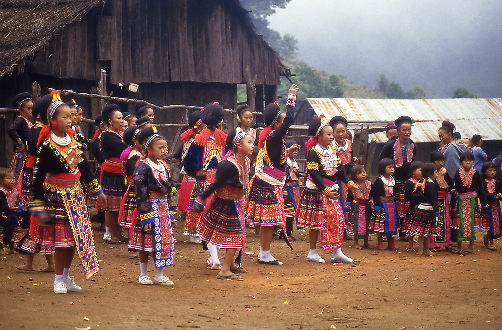 colourful hmong tribe outfits - girl gone authentic - people of the golden triangle